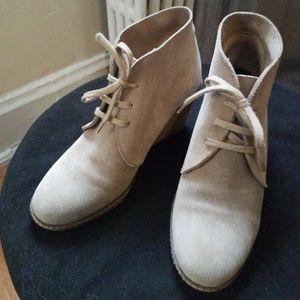 J. Crew Suede Wedge Boots - Sz 8